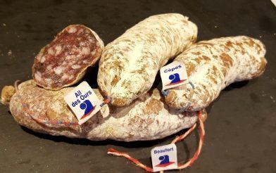 Saucissons de Savoie Cepes Beaufort Ail des ours