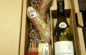 Coffret vin blanc de savoie et charcuterie de savoie