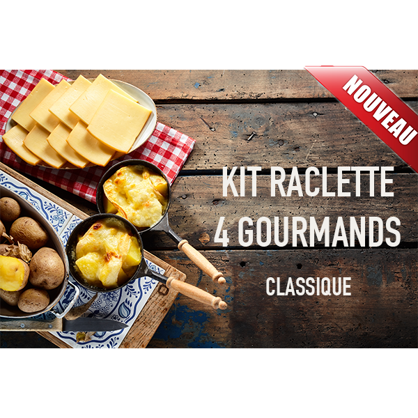 kit raclette classique 4 personnes fromages et vins de savoie. Black Bedroom Furniture Sets. Home Design Ideas