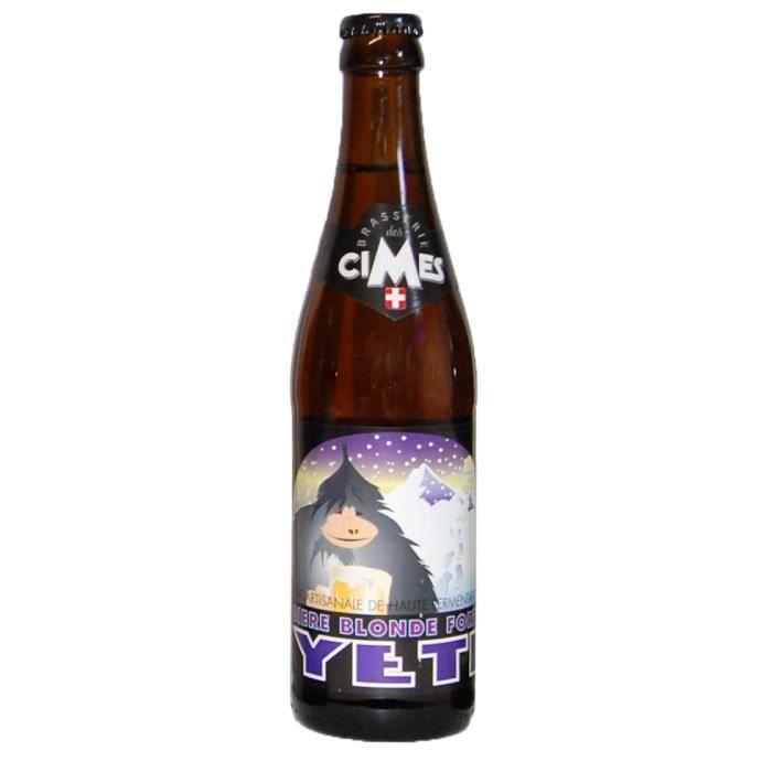 Biere blonde forte Yeti
