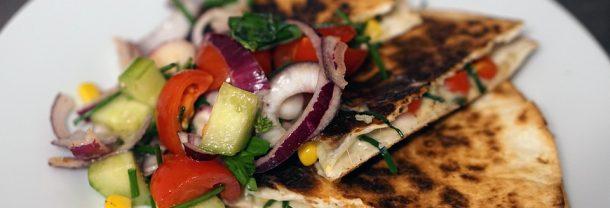 quesadillas végétariennes au fromage
